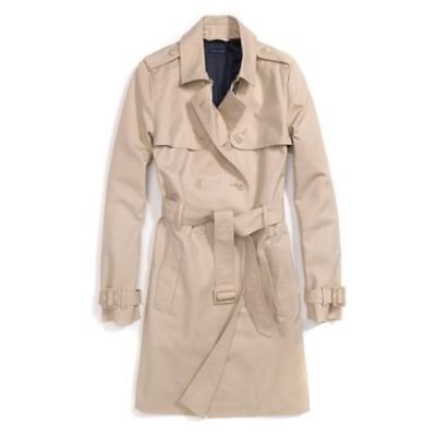 New Tommy Hilfiger Womens Classic Trench Coat Outerwear Classic Womens Trench Coat