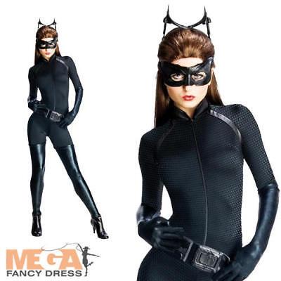 Deluxe Catwoman Ladies Fancy Dress Dark Knight Batman Superhero Womens - Kostüm Catwoman Deluxe