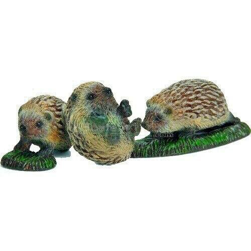 SCHLEICH 3 HEDGEHOG Babies PUPS/ toy/ 14623/ miniature RETIRED 2009 NEW & SEALED