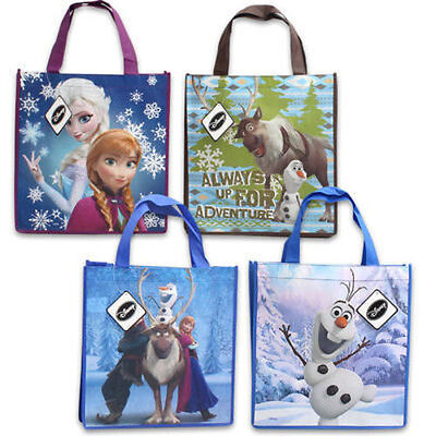 Disney Gift Bag (NEW Disney Frozen Gift Tote Shopping Bag Reusable Elsa Anna Olaf Sven)