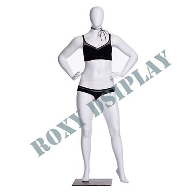 Female Plus Size Egg Head Mannequin Dress Form Display Mz-f3d02w