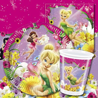 DISNEY FEEN TINKERBELL Mädchen Geburtstags-Party liefert Geschirr (Tinkerbell Dekorationen)