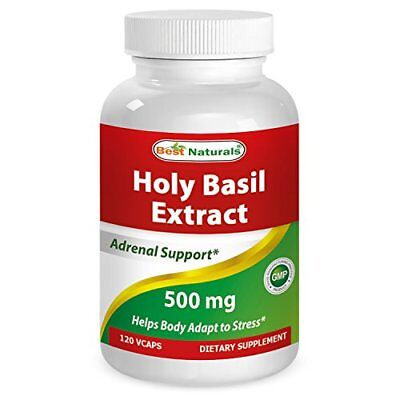 Best Naturals Holy Basil Stress Management 500 mg 120 Veggie Capsules (Best Vegetable Naturals)