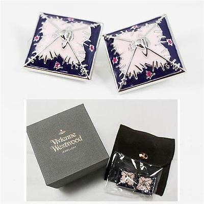 New With Box!! 100% Authentic!! VIVIENNE WESTWOOD Beckan Square Earrings