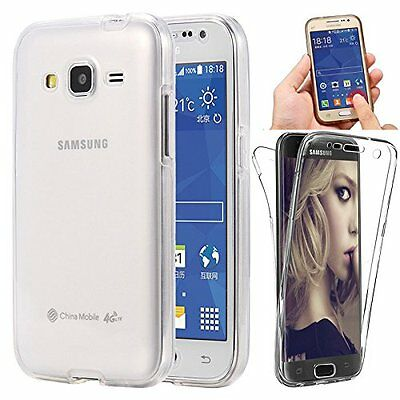 Full Coverage 360 Front & Back 2 in 1 Protective TPU Gel Clear Cover Case