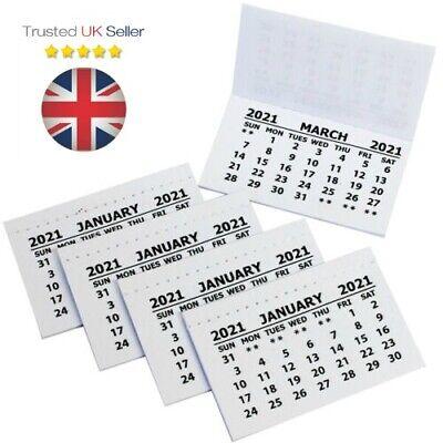 2021 - Calendar Tabs / Insert White Mini Calender Tear Off Pads Month School UK