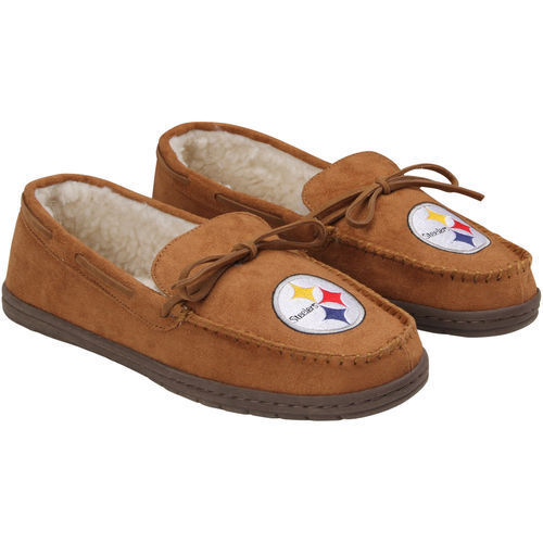 Forever Nfl Pittsburgh Steelers Mens Moccasins Slippers