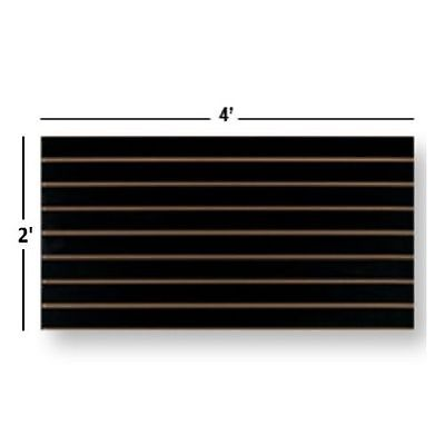 Slatwall Easy Panels Set Of 2 Pieces 2 H X 4 W Black Free Shipping