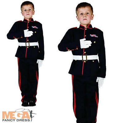 British Military Soldier Costume Kids Armed Forces Boys Army Uniform Fancy Dress - British Army Costume