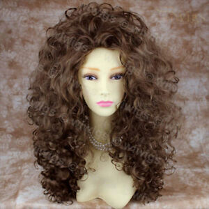 AMAZING-SEXY-Wild-Untamed-Long-Curly-Wig-Light-Brown-Ladies-Wigs
