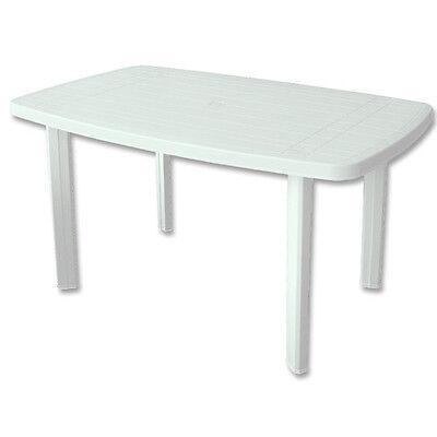 Gartentisch FARO Kunststofftisch Tisch PROGARDEN weiß 140 x 90 cm NEU