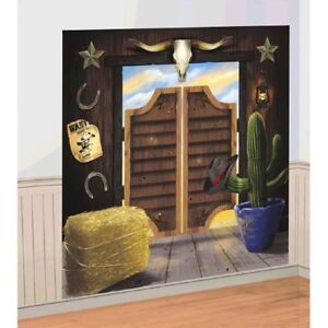 WESTERN Yeehaw WALL POSTER DECORATING KIT (2pc)~ Birthday Party Supplies Country