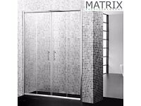 SPE15 - Matrix H1850mm x W1500mm Premium Economy Double Sliding Shower Door 6mm