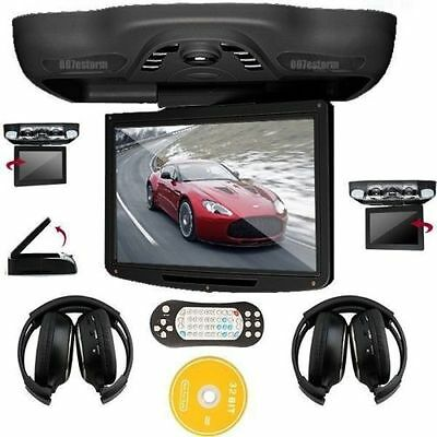 "12.1""HD Car Truck Roof Mount Overhead Monitor DVD Player FM SD Games+Headphones"
