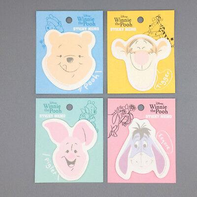4x Disney Winnie The Pooh Friends Sticky Notes Memo Pad Bookmark Index Sticker