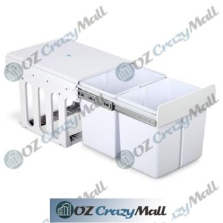 Space Saver Easily Concealed Dual Pull Out Waste Bin