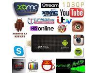 Smart TV Stick Android MK809IV Quad Core 2gb+8G WIFI+FREE Wireless Remote Mini Pc