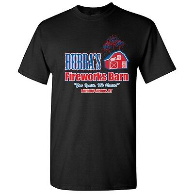 Bubbas Fireworkds Sarcastic Graphic Humor Funny Novelty 4th of July T-shirts