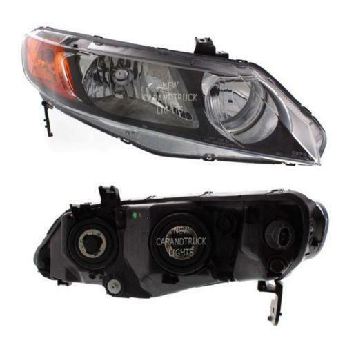 honda civic sedan headlights ebay. Black Bedroom Furniture Sets. Home Design Ideas