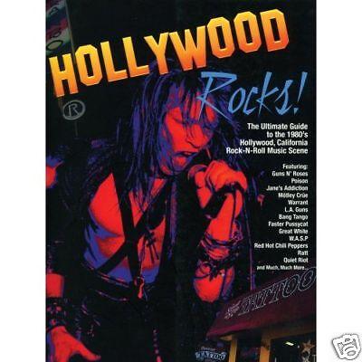 Hollywood Rocks Book (Hardcover) Rock N Roll / Hair Metal / Guns & Roses SunSet