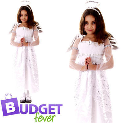 Fancy Dress Xmas Christmas Play Childs Kids Costume Outfit (Nativity Angel Outfit)
