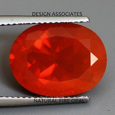 MEXICAN FIRE OPAL 10x8 MM OVAL CUT ALL NATURAL