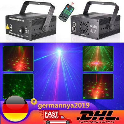48 Muster 3 lens LED Laser Bühnenlicht Projektor Rot Blau Disco DJ Show Objektiv