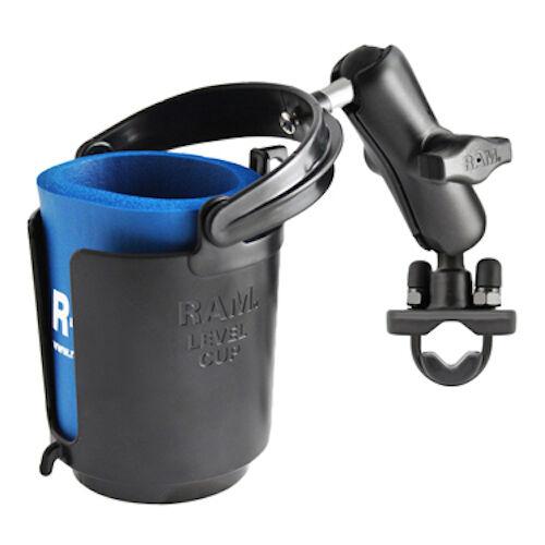 RAM Mount Self Leveling Cup Holder Aluminum Zinc Coated U-Bolt Mount