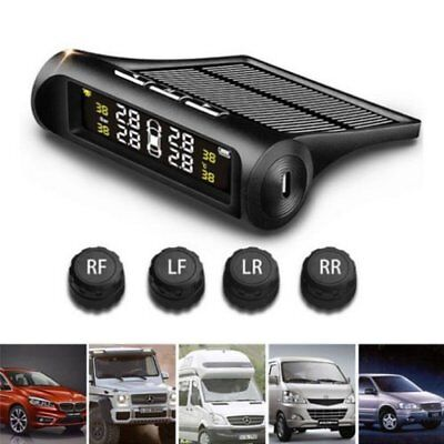 Car Wireless TPMS Tire Pressure Monitor System4 Sensors LCD Display For Ford 1