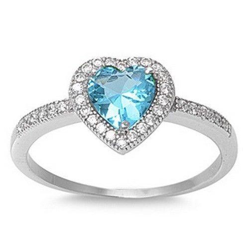 Blue Topaz 925 Silver Ring Ebay