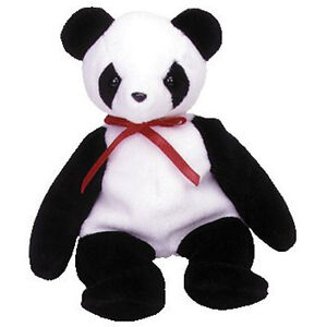 TY Beanie Baby - FORTUNE the Panda Bear (8 inch) MWMT's - Stuffed Animal Toy