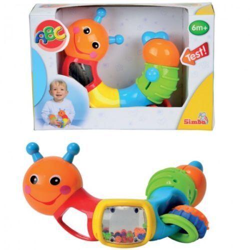SIMBA Baby ABC Raupe Sehen Hören Tasten Feinmotorik Konzentrationsspiel  NEU
