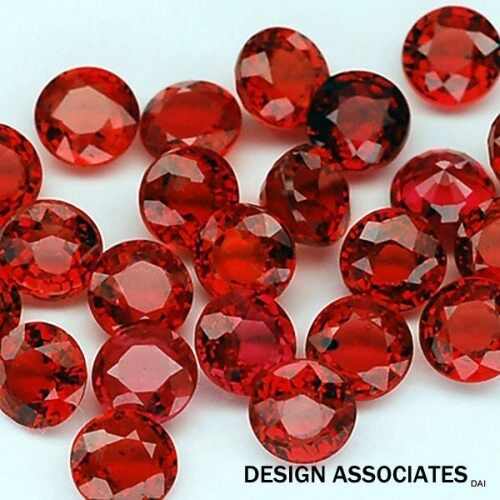 RUBY 1.25 MM ROUND CUT NATURAL GEMSTONE  AAA  2 PC SET
