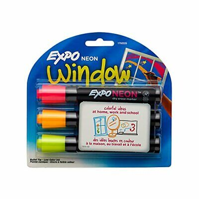 Neon Expo Markers ( EXPO 1752225Neon Dry Erase Markers, Bullet Tip, 3-Pack, Assorted)
