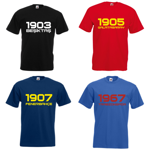 T Shirt Galatasaray Fenerbahce Besiktas Trabzonspor Türkiye Istanbul TS1000