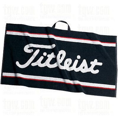 """New Titleist Staff Golf Towel 20"""" x 40"""" Black White Red TA9AC01 Staff Towel"""