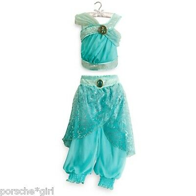 NWT DISNEY STORE COSTUME JASMINE ALADIN PRINCESS DRESS GOWN 5 6 100% AUTHENTIC