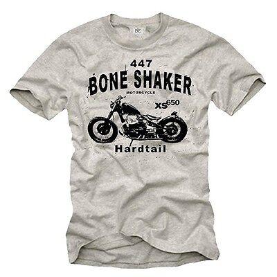 Vintage Motorrad Herren T-Shirt mit XS 650 Chopper - Männer Oldtimer Biker Shirt