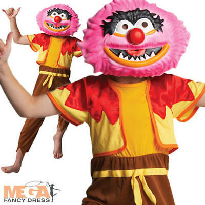 Halloween Kids Tv (Animal The Muppets Boys Fancy Dress Kids Halloween TV Costume + Mask Ages 3-8)