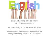 One to one or small group tuition