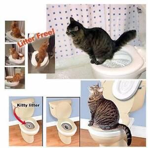 Cat Toilet Training Kit Pee Potty Pet Litter Tray West Melbourne Melbourne City Preview