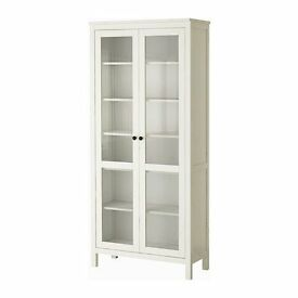 Ikea HEMNES Glass-door cabinet, white stain