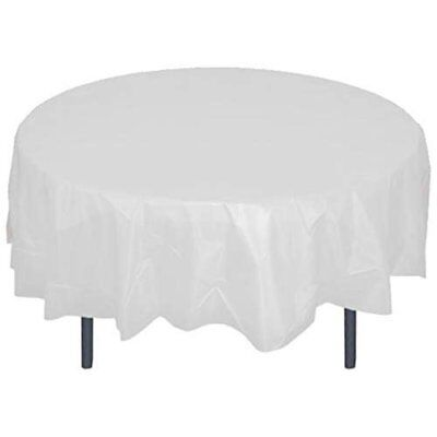 disposable reusable plastic tablecloths 84 round table