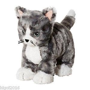 Ikea Kuscheltier LILLEPLUTT Stofftier, Katze grau,  Stofftier Stoffspielzeug