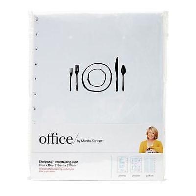 Martha Stewart Discbound Notebook Inserts Entertaining Blank Filler Pages 8.5x11
