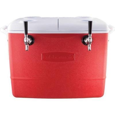 Jockey Box Cooler - 2 Faucet 516 X 50 Stainless Steel Coils 48qt Draft Beer