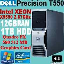 DELL Precison T5500 Workstation Xeon X5550 2.67GHz 12GB 1TB WIN-7 Nunawading Whitehorse Area Preview