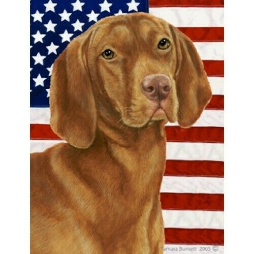 Patriotic (D2) House Flag - Vizsla 32052