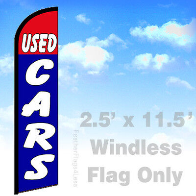 Used Cars - Windless Swooper Flag 2.5x11.5 Feather Banner Sign - Bf