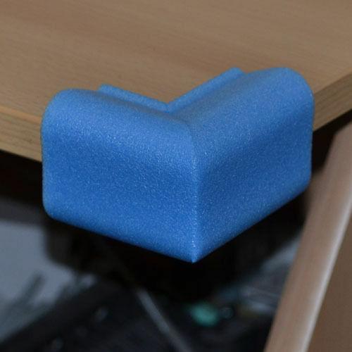 60mm Borde Protector de seguridad del bebé Marco De Foto protectores de esquinas Azul PE Foam 15mm